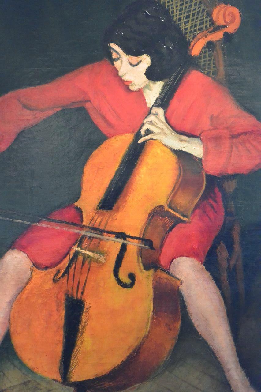 Femme jouant du violoncelle de Bereny Robert