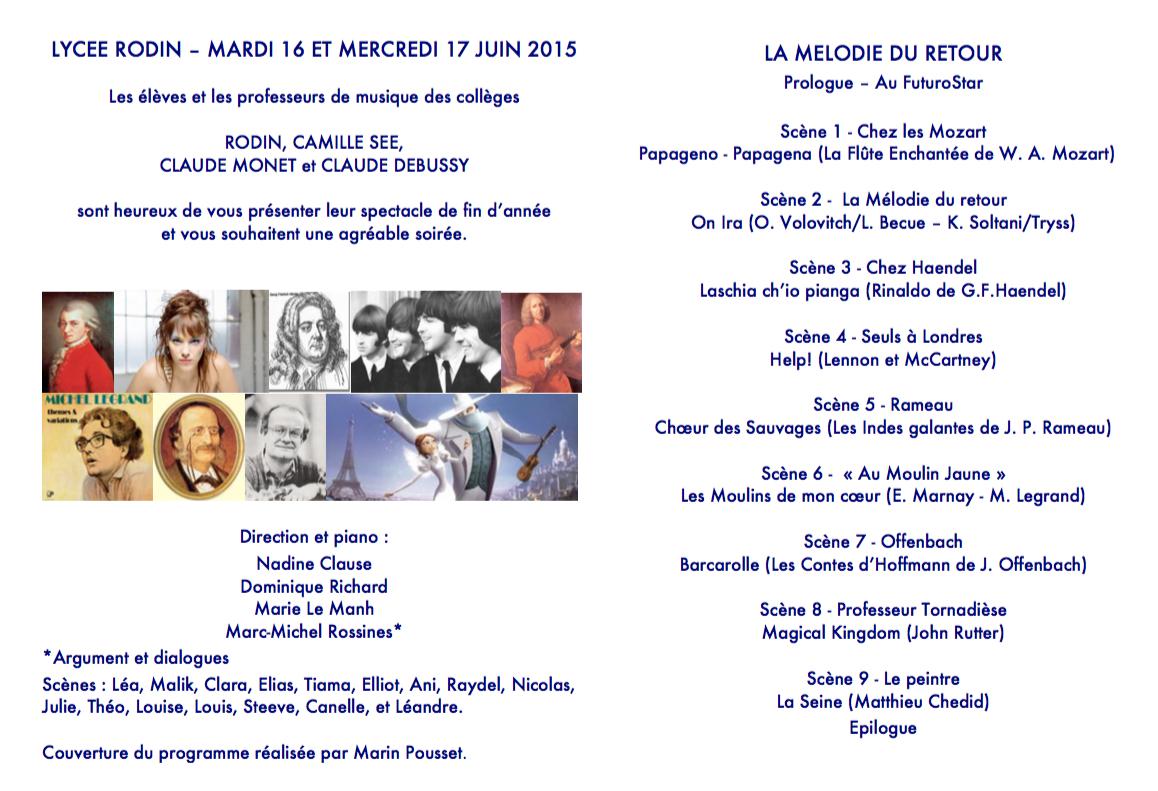 Programme La Mélodie du retour